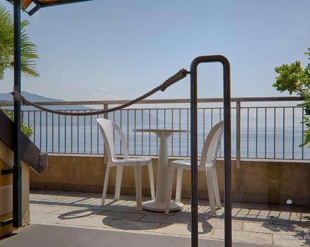 Magnificent terrace at BW Hotel Regina Elena Santa Margherita Ligure