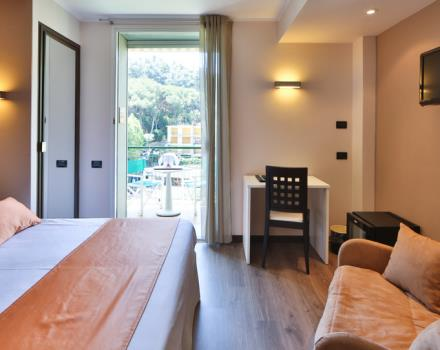 The Best Western Hotel Regina Elena nestled between Mount of Portofino and the sea.