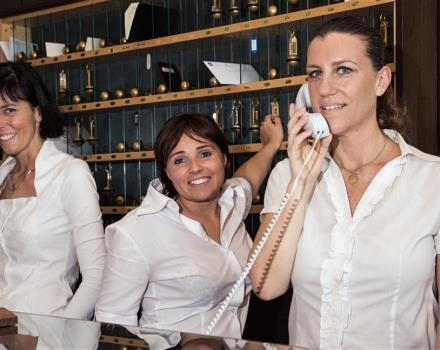 The Staff at the BW Hotel Queen Elana is ready to satisfy all your requests!